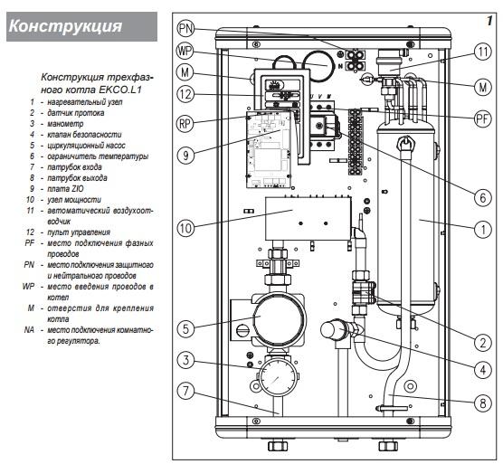 Электрокотел kospel схема подключения